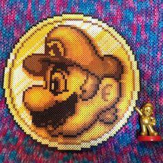 Mario coin perler beads by perler_purrs