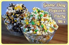 Popcorn Party Mix...would be super fun for Clemson games!