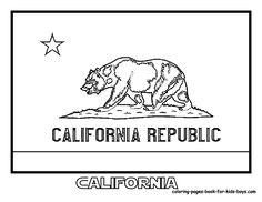 california flag printout 4th gr ca history pinterest
