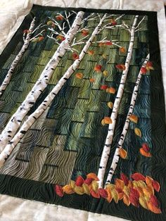 Pattern Blocks, Quilt Patterns, Quilting Ideas, Man Quilt, Tree Quilt, Landscape Quilts, Table Runners, Collages, Landscapes