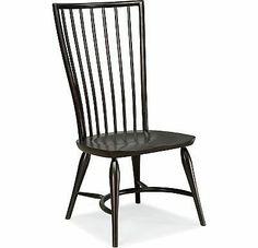 Set of 2 Thomasville Furniture Cinnamon Hill Black side chairs 42729-845