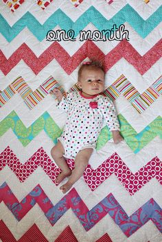 Beautiful chevron quilt  //  My life in transition