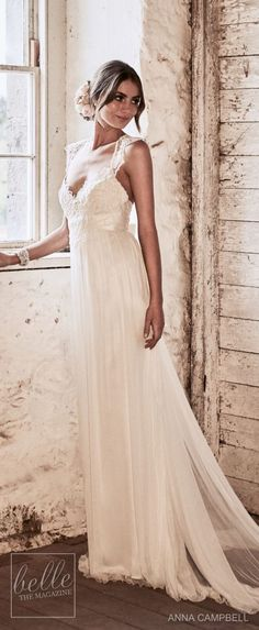 anna campbell 2018 bridal cap sleeves sweetheart neckline heavily embellished bodice tulle skirt soft a line wedding dress lace rasor back sweep train mv -- Anna Campbell 2018 Wedding Dresses Wedding Dresses 2018, Bridal Dresses, Bridesmaid Dresses, Party Dresses, Anna Campbell, Dresses Elegant, Casual Wedding, Wedding Rustic, Wedding Reception