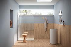 MINIMALISTICKÁ KÚPEĽŇA - Puristické kúpeľne / BENEVA Palette, Porcelain Tile, Wall Tiles, Stoneware, Beige, Flooring, Cabinet, Mirror, Storage