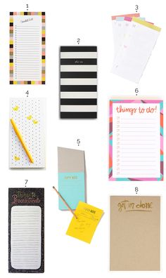 8 pretty notepads