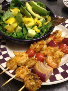 Healthy and Tasty Daily Menus Dinner: Curry Shrimp Kabobs