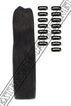 Extension Fai Da te, 120g, 50cm, #1B Marrone scuro