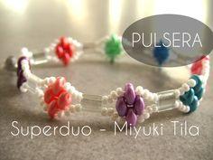 M Aqui viene otro tutorial de como utilizar las Superduo y las Miyuki Tila. El tutorial es muy sencillo y la pulsera es muy bonita. Aqui el enlace al Material:...