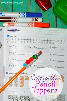 Activities for Kids: Caterpillar Pencil Topper