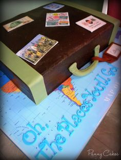 Retirement Cake for traveler