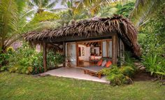 Tokoriki Island Resort - Sepulveda Boulevard,Westchester: Seven-Day, Five-Night Stay Including Airfare at the Tokoriki Island Resort in Fiji Hut House, Tiny House, House Roof, Bamboo House Design, Bahay Kubo, Jungle House, Beach Bungalows, Beach Shack, Back Patio