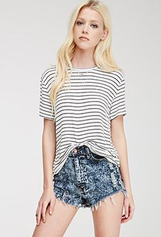 Classic Stripe-Patterned Top | Forever21 - 2000080561