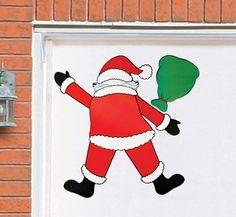 Crashing Santa Garage Magnet