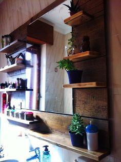 Pallet Bathroom Renovation – Pallet Shelving - 25 Unique DIY Wood Pallet Projects | 99 Pallets