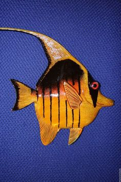 "(1),6"", WALL HANGING FISH,BATH DECOR,CORAL REEF,NAUTICAL DECOR  ,TROPICAL,#189 #SHORELYYOURS"