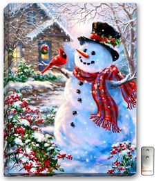 Frosty the Snowman.think I've pinned him before, but just love this happy little snowman Christmas Scenes, Vintage Christmas Cards, Christmas Pictures, Christmas Snowman, Winter Christmas, All Things Christmas, Christmas Holidays, Christmas Crafts, Christmas Decorations