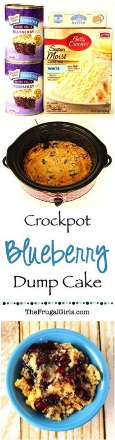 Crockpot Blueberry Dump Cake Recipe