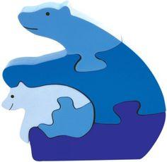 Wooden Polar Bear Puzzle