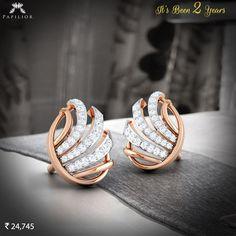 Shop Timeless Scintilla #Diamond #Studs  It's Been 2 Years  #papilior #diamondearrings #buydiamondearring #diamondearringprice
