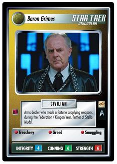 Star Trek Ccg, Collector Cards, Baron, Science Fiction, Discovery, Game, Stars, People, Sci Fi