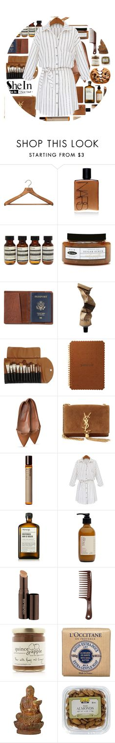 """""""we have problems/ SHEIN BLOUSE"""" by luizajarosa ❤ liked on Polyvore featuring PERIGOT, NARS Cosmetics, Aesop, de-luxe, TOMS, Claudio Riaz, Yves Saint Laurent, Nestlé, Trilogy and Hourglass Cosmetics"""