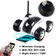 Wi-Fi remote spy rover with Night Vision IP Camera     Tag a friend who would love this!     FREE Shipping Worldwide     Buy one here---> https://www.hobby.sg/wireless-charger-wi-fi-remote-spy-car-camera-video-toy-car-night-vision-mobile-3mp-ip-camera-smart-phone-remote-control-tank-car/    #hobbyshop
