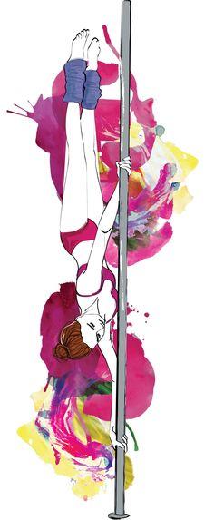 pole fitness illustration - Buscar con Google