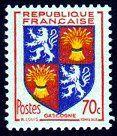 Armoiries de Gascogne Armoiries des provinces françaises (Sixième série) - Timbre de 1953
