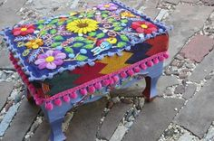 Peruvian Footstool Verónica Prida