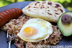 Calentado Colombiano (Beans and Rice Breakfast Dish)