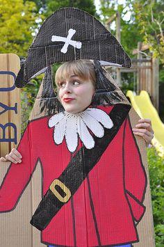 Pirate party cardboard pirate photo prop