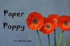 ANZAC Day poppy craft - paper poppy made out of cupcake cases - from BeAFunMum