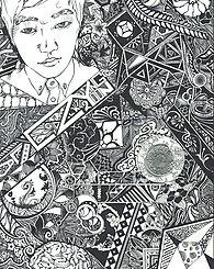 ArtRescape -  About Me .  pen art , line , pattern , illustration