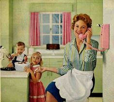1959 green and pink laminate kitchen