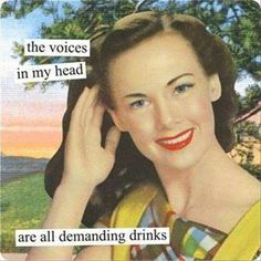 The napkins feature the funny, witty and sassy sayings that Anne Taintor is famous for. Anne Taintor Beverage Paper Napkins - with the saying. I'll drink to that! About Paper Products Design (PPD). Anne Taintor, Vintage Humor, Retro Humor, Retro Funny, Vintage Comics, 9gag Funny, Haha Funny, Hilarious, Funny Stuff