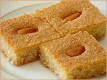 ägypt. Grießkuchen - Basbosa