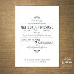 AMPERSAND - Modern Deco Typography Wedding Invitation (SAMPLE)