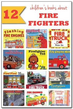 Perfect for the fire fighter enthusiasts in your life: check out these 12 fun and fantastic books about fire fighters for kids!