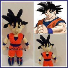 (4) Name: 'Crocheting : Goku ,Dragon Ball Z Doll Amigurumi PDF