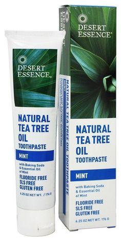 Desert Essence – Toothpaste Natural Tea Tree Oil With Baking Soda Mint – oz… – dandruff shampoo Baking Soda Dry Shampoo, Baking Soda For Dandruff, Apple Cider Vinegar Shampoo, Honey Shampoo, Natural Shampoo, Natural Oils, Hair Shampoo, Natural Hair, Baking Soda And Honey