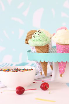 Craft Your Own Ice Cream Social Party   damask love
