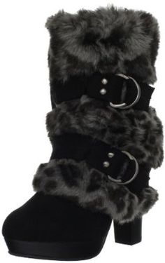 Naughty Monkey Women's Close Call Boot - The heels a lil high but I like them. They are different & the fur just fits so well in the winter. Fur Boots, Heeled Boots, Bootie Boots, Shoe Boots, Beige Boots, Ankle Boots, Cute Shoes, On Shoes, Me Too Shoes
