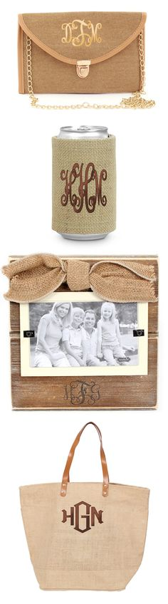 Nothing says Summer like Burlap! Marleylilly.com has a ton of great burlap accessories! #Summer #Burlap