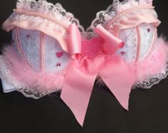 Baby Pink Valentines Day Rave Bra