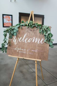 Wedding Welcome Sign Wooden Wedding Signs Wood by PaperandPineCo …
