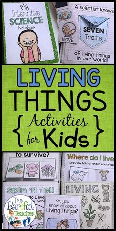 You've found them! The best interactive activities to go along with your Living Things science unit. This interactive notebook goes with the Kindergarten NGSS but can also be used with Preschool or First Grade students as well.