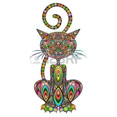 Cat Psychedelic Art Design Royalty Free Cliparts, Vectors, And Stock Illustration. Image 21299336.