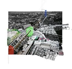Montreuil topography study collage, Lauren Li Porter