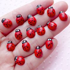 Mini ladybug cabochons for scrapbooking and all kinds of decoration, Quantity: 15pcs Color: As shown in the picture Size: approx. 0.8cm (W) x 1.1cm (L); or 0.3 (W) x 0.42 (L) Material: Wood  For more ladybug items available, please take a look at: https://www.etsy.com/shop/MiniatureSweet/search?search_query=ladybug  ✧・゚:*✧・゚:*✧・゚:*✧・゚:*✧・゚:*✧・゚:* \(◕‿◕✿)/ *:・゚✧*:・゚✧*:・゚✧*:・゚✧*:・゚✧*:・゚✧  If you need more than the quantity listed, please contact us, we normally have more.  ♡SECRET GIFT♡ Secret…