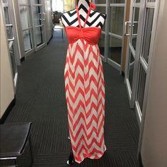 "Selling this ""Cute Coral Chevron Maxi"" in my Poshmark closet! My username is: nelnelann. #shopmycloset #poshmark #fashion #shopping #style #forsale #Dresses & Skirts"